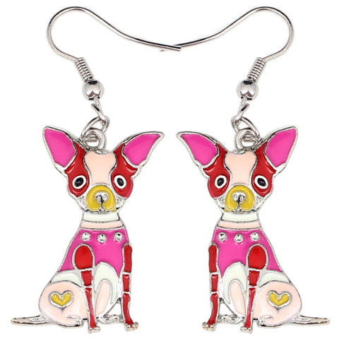 Chihuahua Multicolor Earrings