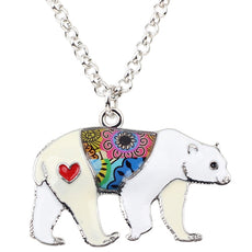 Multicolor Polar Bear Necklace
