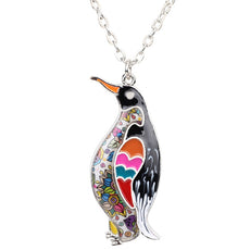 Multicolor Penguin Necklace