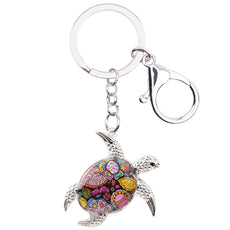 Multicolor Turtle Keychain