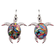 Multicolor Turtle Earrings