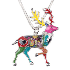 Multicolor Deer Necklace