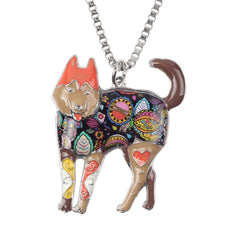Siberian Husky Multicolor Necklace