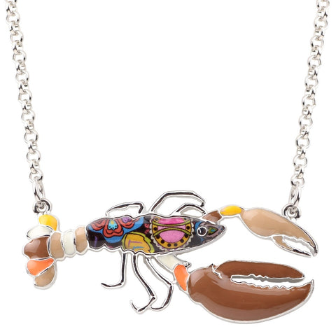 Multicolor Lobster Necklace
