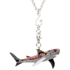Multicolor Shark Necklace