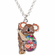 Multicolor Koala Necklace