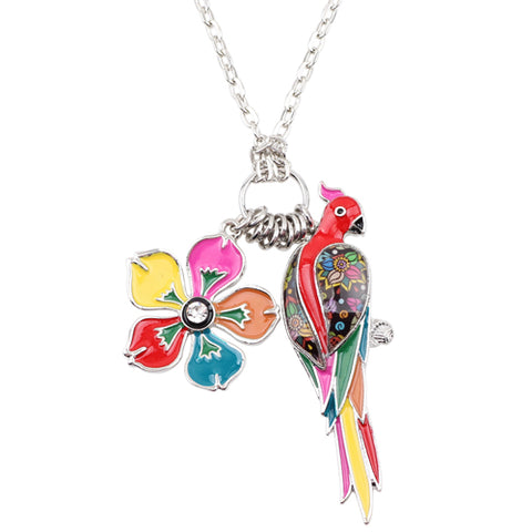 Multicolor Parrot Necklace