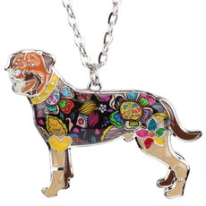 Rottweiler Multicolor Necklace