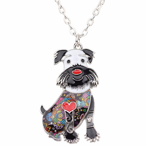 Schnauzer Terrier Multicolor Necklace