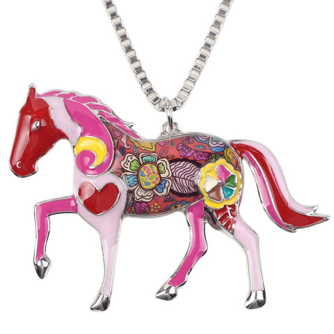 Multicolor Horse Necklace