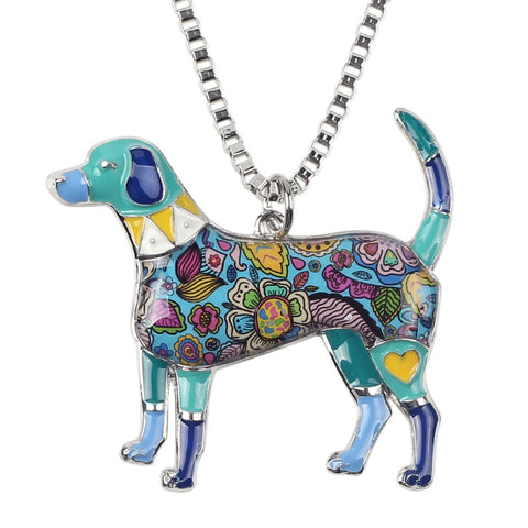 Beagle Multicolor Necklace