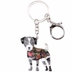 Jack Russel Multicolor Keychain