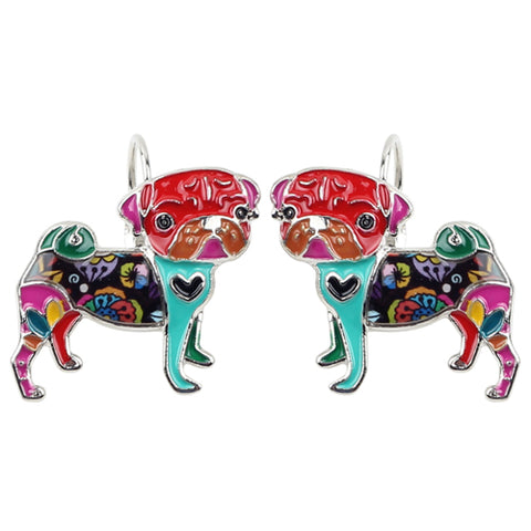 Pug Multicolor Earrings