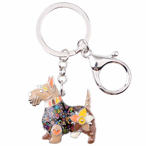 Scottish Terrier Multicolor Keychain