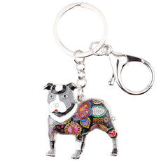 Pit Bull Multicolor Keychain