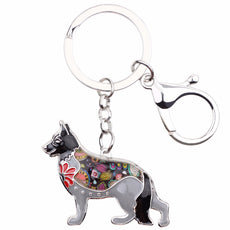 German Shepherd Multicolor Keychain