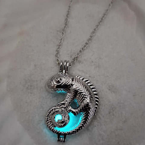 Chameleon Glow in the Dark Necklace