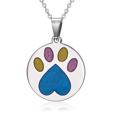 Stainless Paw Print Necklace