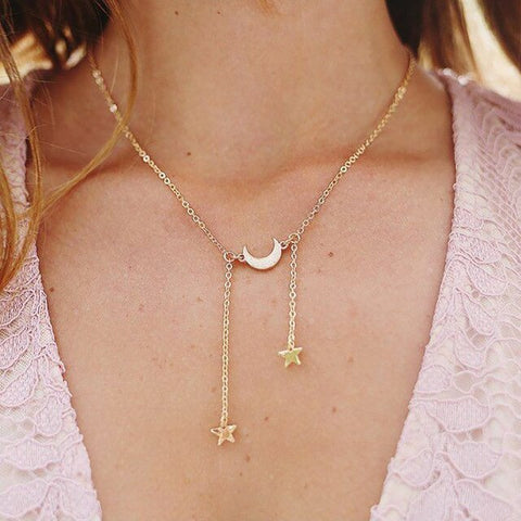 Free Stars and a Moon Necklace
