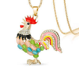 Crystal Chicken Necklace