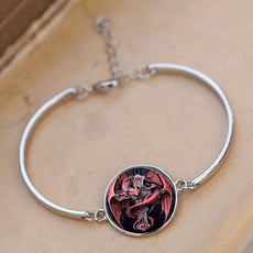 Red Dragon Round Cameo - Bracelet