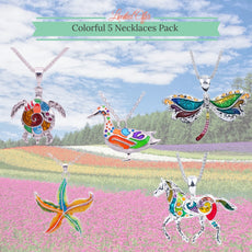 Colorful 5 Necklaces Pack
