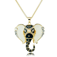 Crystal Elephant Head Necklace