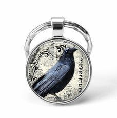 Crow Animal Keychain