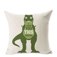 I Love you this Much Dino Cushion