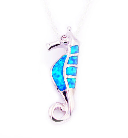 Cute Seahorse Opal Necklace