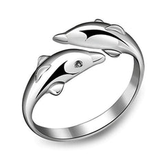 Free Double Dolphin Ring