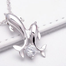 Free Double Dolphin Necklace