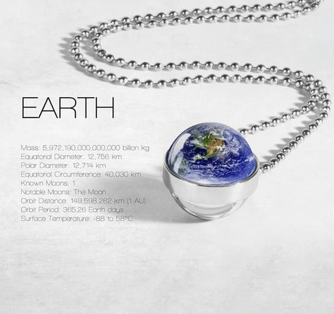 Planet Double Glass Necklace