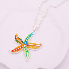 Free Enamel Starfish Necklace