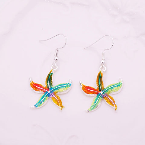 Free Enamel Starfish Earrings