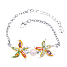 Wholesale Enamel Starfish Bracelet (12x Pack)