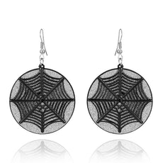 Spider Web Metal Scrub Earrings