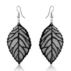 Leaf Metal Scrub Earrings