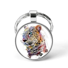 Cheetah Animal Keychain