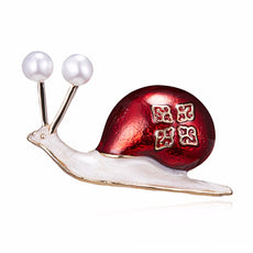Red Snail Brooch