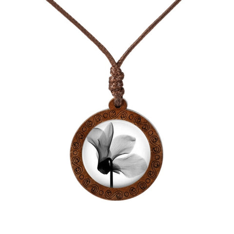 Flower Wood Necklace
