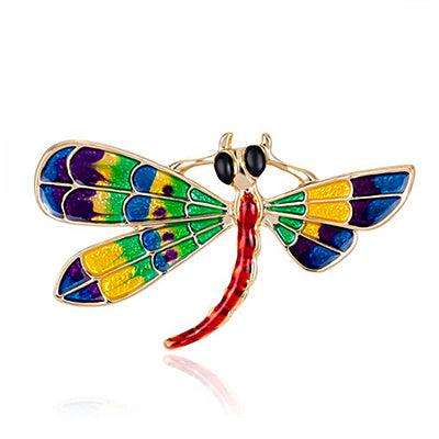 Colorful Dragonfly Brooch