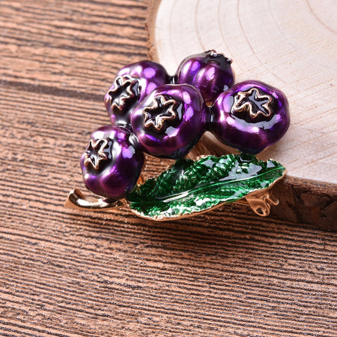 Blueberry Brooch