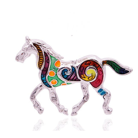 Colorful Horse Brooch