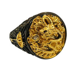 Black Gold Dragon Ring