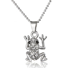 Climbing Frog Necklace