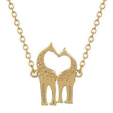 Double Giraffe Love Necklace
