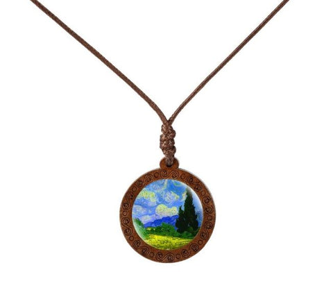 Breathtaking Nature Wood Necklace