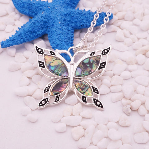Free Green Butterfly Necklace