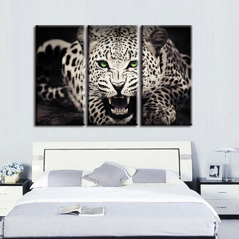 3 Panel Leopard Wall Canvas